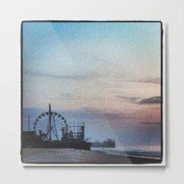 Funtown Pier Metal Print