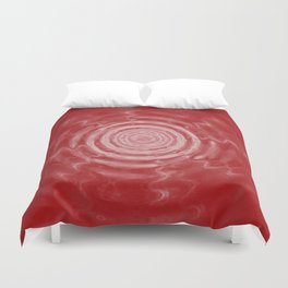 Ripples_Red Duvet Cover