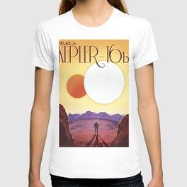 Retro Space Poster -kepler 16b T-shirt
