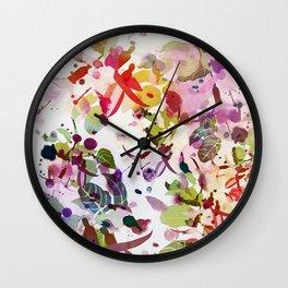 multicolore abstract fuchsia Wall Clock