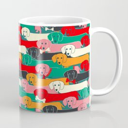 dachshund pattern- happy dogs Coffee Mug