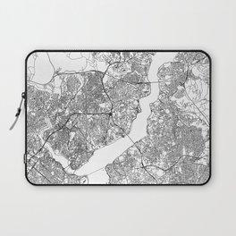 Istanbul White Map Laptop Sleeve