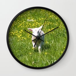 Rosie the Lamb Photography Wall Clock
