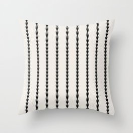 Minimal Triangles - Black & White Throw Pillow
