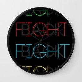 Fight Back Wall Clock