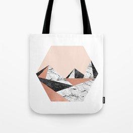 Geo Landscape Hexagon Tote Bag