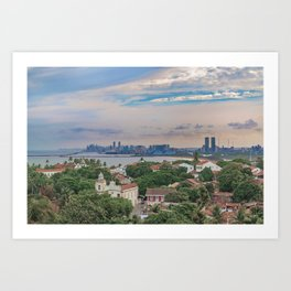 Aerial View of Olinda and Recife, Pernambuco Brazil Art Print