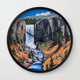 Tumalo Falls Wall Clock