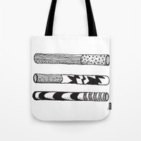 cigarettes Tote Bags featuring Jazz Cigarettes by Beara