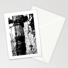 Barbed Wire Fence Post B/W Stationery Cards