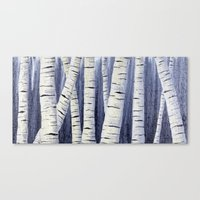 birch Canvas Prints featuring Birch by Sarah Yee