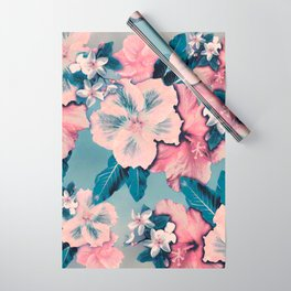 Vintage Nui Loa Hibiscus Wrapping Paper