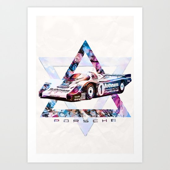 Porsche 956 C Coupé // Le Mans Race Cars Art Print