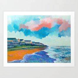 Fall Beach Scene Art Print