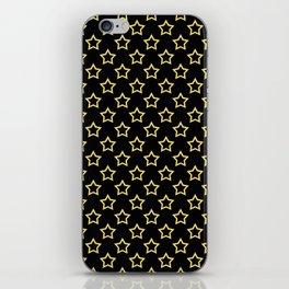 Stars. Gold and black pattern. iPhone Skin