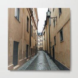 Streets of Stockholm Metal Print