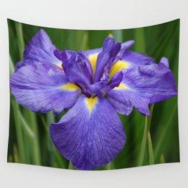 Purple Iris Flower Wall Tapestry