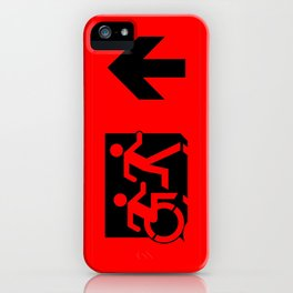Wheelchair Disabled Exit Sign, with Accessible Means of Egress Icon iPhone Case