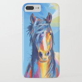 Horse Beauty - colorful animal portrait iPhone Case