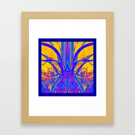 Blue Agave Tropical Evening Framed Art Print