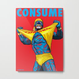 CONSUME: The King of Wrestling Metal Print