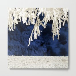 Snow in the Morning Metal Print