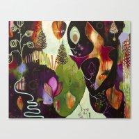 "flora bowley Canvas Prints featuring ""Deep Peace"" Original Painting by Flora Bowley by Flora Bowley"