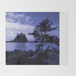 Deep Blue Throw Blanket
