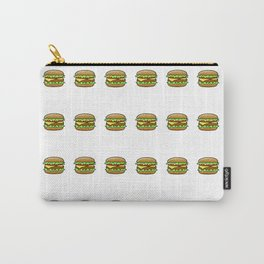 Hamburger Repeat Pattern Carry-All Pouch
