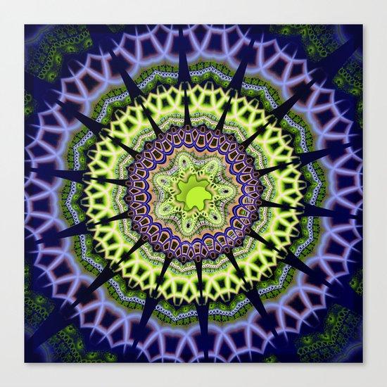 Groovy crackles patterns mandala Canvas Print