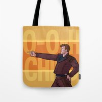 starlord Tote Bags featuring Dance Off Bro by Lydia Butz