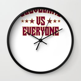 Cleveland Vs Everyone 2018 Sports Champs Wall Clock