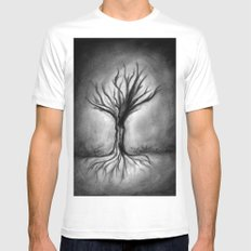 Untitled (Wraith) MEDIUM White Mens Fitted Tee