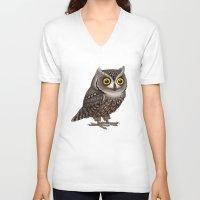 hocus pocus V-neck T-shirts featuring Otus pocus by Pepetto