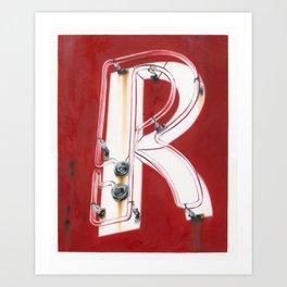 Neon R Art Print