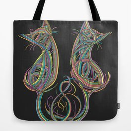 Technicolour Kitties Tote Bag