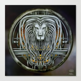"""Astrological Mechanism - Leo"" Canvas Print"