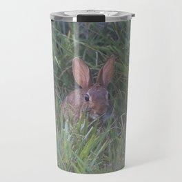 Rabbit in the Grass Travel Mug