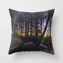 Wooded Tofino Throw Pillow
