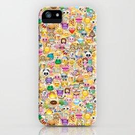 Emoticon pattern iPhone Case
