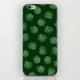 Brussels Sprouts Pattern iPhone Skin