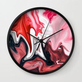 Blood in Milk Wall Clock