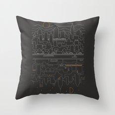 City 24 Throw Pillow