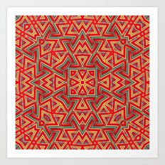Aztec Sunshine Pattern Art Print