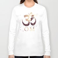 india Long Sleeve T-shirts featuring Om India by Eva Nev