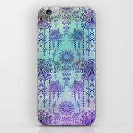 Victorian Potpourri - Faded Splendor Watercolors - AQUAMARINE iPhone Skin