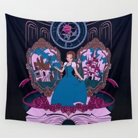 belle Wall Tapestries featuring La Belle by Nados