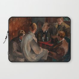 Alvar Cawen - Members of The November Group - 1921, man, seating, art Laptop Sleeve