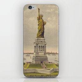 Currier & Ives. - Print c.1885 - Statue of Liberty 1 iPhone Skin