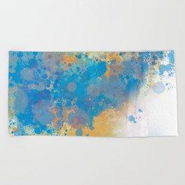 Blue Invasion  Beach Towel